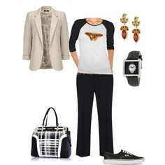 """On the run with the basics"" by maria-kuroshchepova on Polyvore"