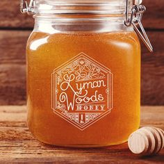 Honey jar label // #handlettering #packaging #design