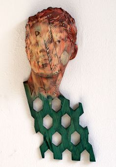 Reinhard Voss 'collecting point', 48 x 16 x 6 cm Wood Sculpture, Wall Sculptures, What Is Contemporary Art, B 13, Photography Projects, Art Object, Community Art, Portrait Art, Face Art