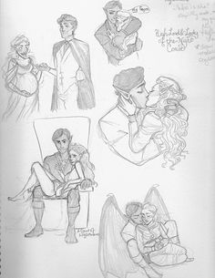 high lord and high lady of the night court by mmmills on DeviantArt sketches of feyre and rhysand because they are my new OTP CAN'T WAIT FOR ACOWAR! characters belong to Sarah J. Sarah Maas, Sarah J Maas Books, A Court Of Wings And Ruin, A Court Of Mist And Fury, The Court, Throne Of Glass, Up Book, Book Nerd, Saga
