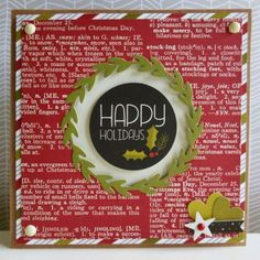 Simple Stories DIY Christmas - Happy Holidays card for Hey Little Magpie