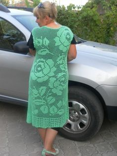 Filet Crochet, Irish Crochet, Crochet Motif, Knit Crochet, Crochet Patterns, Crochet Jacket, Crochet Cardigan, Knit Dress, Crochet Skirts