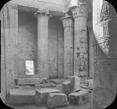 Egypt - Philae. Temple of Isis. Columns. 1900