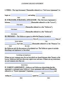 Free printable rental lease agreement form template bagnas printable sample sublease agreement form form platinumwayz