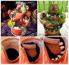 Resultado imagen para mini jardines con rutas en macetas