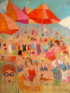 SCENE AT THE BEACH  Artist, Sandy Welch