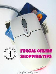 Frugal Online Shopping Tips #shopping #savingmoney #tips