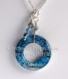 Namaste Charm Necklace Yoga Inspired Pendant Circles of Inspiration by Anna Pereira. $60.50, via Etsy.