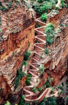 Walter's Wiggles on way to Angel's Landing in Zion National Park, Utah. I made it up to the top of this...and watched Spenser climb Angel's Landing.