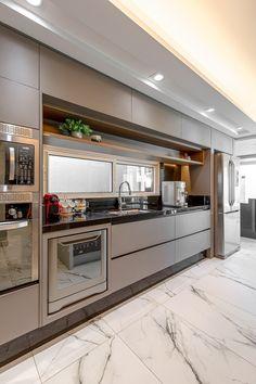 Kitchen Room Design, Kitchen Cabinet Design, Modern Kitchen Design, Home Decor Kitchen, Interior Design Kitchen, Home Kitchens, Home Design Decor, Decoration Design, House Design