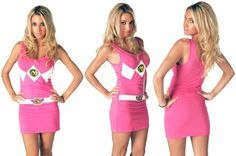 Pink Ranger mini dress?!?! Oh hellz yeah!
