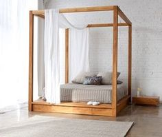 With its minimalist approach and ultra clean lines, the PCHseries Canopy Bed offers a secluded and dreamy place to rest. . Available at designpublic.com #designpublic #home #homefurnishings #homey #moderndesign #moderninterior #modern #luxe #design #luxury #unique #interiordesign #classy #classic #interiors #homeinspo #furniture #modernfurniture