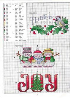 Christmas time cross stitch - Punto de Cruz GRATIS: Manteles