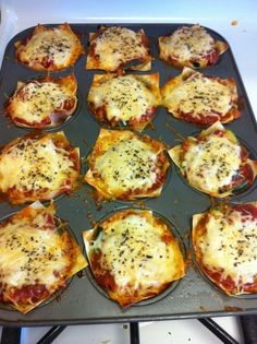Life after having the Gastric Sleeve: 148 Calorie Lasagna Cupcakes