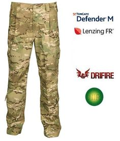 Propper® MultiCam® FR Flame Resistant Combat Trouser  The MultiCam™ FR Combat trouser is sewn to official  Fire Resistant Organizational Gear specifications. It is made of patented Defender M™ flame-resistant fabric. All thread, zippers and loop components are flame resistant.    • Made of patented Defender M™ MultiCam™ flame-resistant fabric  • Contoured stretch waistband  • Reinforced seat and articulated knee  • Bellow style cargo pockets  • Calf pockets