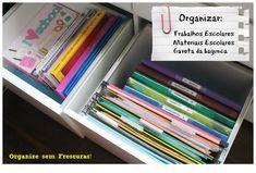 Organização do material e trabalhos escolares | Organize sem Frescuras! - http://www.decoracaodecoracao.com/organizacao-do-material-e-trabalhos-escolares-organize-sem-frescuras #decoração - #arquitetura - #paisagismo