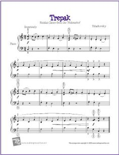 Trepak (The Nutcracker) | Free Sheet Music for Piano