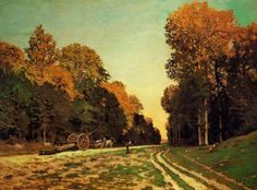 1864. The Road from Chailly to Fontainebleau.