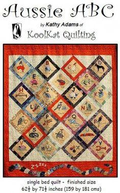 Aussie ABC Applique Quilt Pattern by GrandmasSupplyAttic on Etsy, $25.50