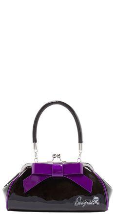 Sourpuss Floozy Purse in Black/Purple | Blame Betty