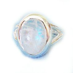 Bella's Twilight Moonstone Ring (Sterling Silver and Moonstone)
