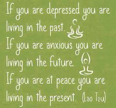 Living in the present!