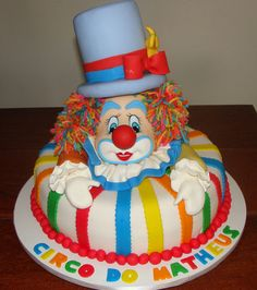 Amazing decorative. cake | Clown Circus Birthday Cake | Tips Kids Party - Ideas, Themes ...