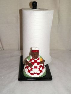 AUNT JEMIMA COOK PAPER TOWEL Paper Towel Holder Kitchen, Towel Holders, Napkin Holders, Aunt Jemima, Paper Decorations, Toilet Paper, Decorative Paper, Kitchen Decor, African