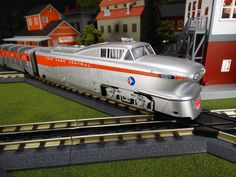 Buy It Now or Find It Locally http://mthtrains.com/30-20319-1 At the station today the just arrive MTH RailKIng O Gauge New York Central Aerotrain 30-20319-1. The RailKing Aerotrain operates on O-31 curves and this just arrive New York Central model has a MSRP of $429.95. Ask your MTH Dealer about getting one today.