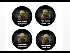 Star Wars Printable Tutorial 2:  How to make thank you tags with MS Word
