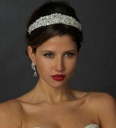 Dazzling Crystal and Rhinestone Wedding Tiara hp705 - Affordable Elegance Bridal -