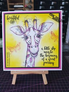 Horse Cards, Recycle Art, Impression Obsession, Ink Stamps, Pink Design, Animal Cards, Giraffes, Art Journaling, Handmade Cards