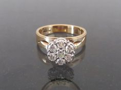 Vintage 10K Solid Yellow & White Gold .77ct by wandajewelry2013
