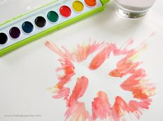 Use leaves & water colors to make fun fall art. #kids #projects