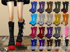 Studio K Creation: Marie Rose Gothic long boots • Sims 4 Downloads