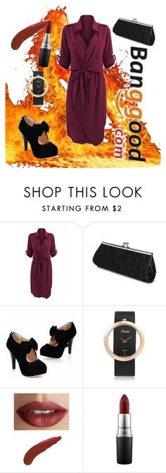 """Banggood I/7"" by elma-elma-di ❤ liked on Polyvore featuring TheBalm and MAC Cosmetics"