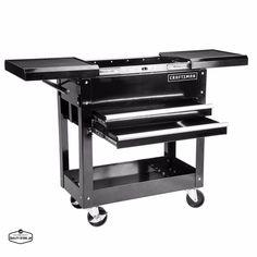 Mechanics Tool Cart Rolling Storage On Wheels With Drawers Metal Craftsman Chest #Craftsman