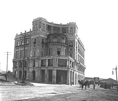 Postal del Club Mar del Plata . año 1920 -foto Federico Kohlmann . Gentileza Lic. Angel J. Somma      El Presidente de la República Mar...