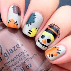 Spooky Halloween Nail Designs for More Fun ★ See more: https://naildesignsjournal.com/spooky-halloween-nail-designs/ #nails