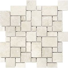 Shop Anatolia Tile Chiaro Filled and Honed Natural Stone Mosaic Versailles Wall Tile (Common: 12-in x 12-in; Actual: 12-in x 12-in) at Lowes.com