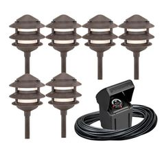 Portfolio�6-Light Bronze Low-Voltage Path Lights Kit