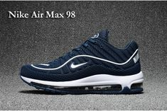 the latest 59308 36f92 Superior Fit Scarpa 2017 Nike Air Max 98 Dark Blu Bianco Uomo Best Nike  Running Shoes