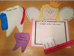 Dental health downloads, and the cutest tooth fairy writing page ever!