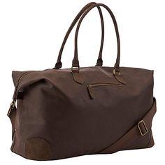 Buy John Lewis Cambridge PU Large Explorer Bag, Brown Online at johnlewis.com