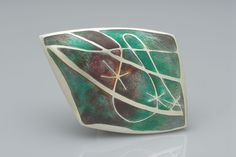 Sarah Letts - Brooch, silver and enamel