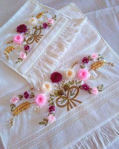 Wonderful Ribbon Embroidery Flowers by Hand Ideas. Enchanting Ribbon Embroidery Flowers by Hand Ideas. Ribbon Embroidery Tutorial, Floral Embroidery Patterns, Types Of Embroidery, Embroidery Needles, Silk Ribbon Embroidery, Hand Embroidery, Embroidery Designs, Nylon Flowers, Fabric Flowers