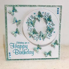 Designed & created by Chloe Endean using her Stamps By Chloe range Chloes Creative Cards, Stamps By Chloe, Crafters Companion Cards, Sue Wilson, Butterfly Cards, Die Cutting, Cardmaking, Card Ideas, Birthday Cards