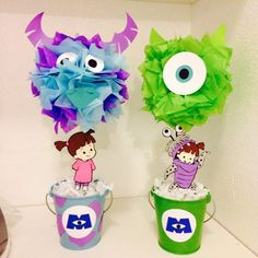 centros de mesa monster inc - Buscar con Google