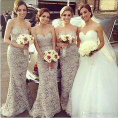 2016 Chic Lace Sweetheart Long Bridesmaid Dresses Sleeveless Beaded Crystals Satin Belt Floor Length Sheath Maid of Honor Dress Mermaid Evening Gowns Mermaid Wedding Dresses Satin Dresses Online with 97.15/Piece on Yaostore's Store | DHgate.com