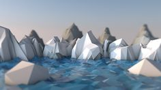 In this tutorial, Dylan Abernethy will show you how to create a nice looking low-poly ice and mountain scene inside of Cinema 4D.